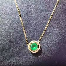 emerald gemstone necklace images Natural green emerald pendant s925 silver natural gemstone pendant jpg