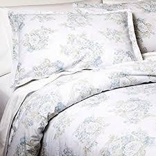 amazon com simply shabby chic twin bed comforter set pretty blue
