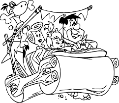 marvellous design flintstone coloring pages flintstones