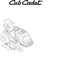 cub cadet lawn mower slt1550 slt1554 user guide manualsonline com