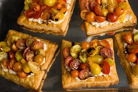 fresh tomato and cheese puff pastry tart recipe chowhound