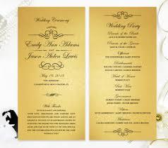 gold wedding programs wedding programs lemonwedding