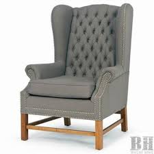 grey linen chair bright home millard tufted grey linen wing back club chair