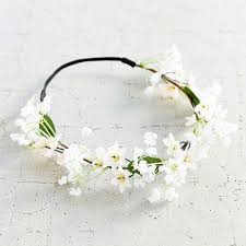 white flower headband 9 best flower crowns in summer 2017 beautiful floral headbands