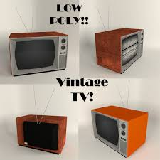 vintage tv by 12jheller 3docean