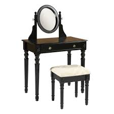 black loraine vanity with upholstered stool christmas tree shops