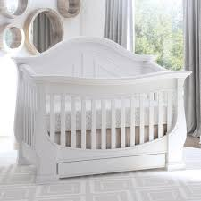 White Convertible Baby Crib Eco Chic Baby Dorchester Curved 4 In 1 Convertible Crib With