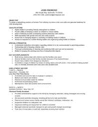 Key Accomplishments Resume Examples by Child Care Cover Letter No Experience Sample