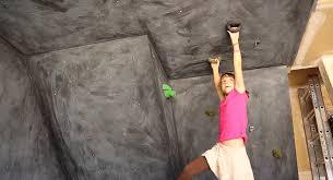 girl builds a garage climbing wall youtube