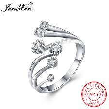 sted rings 2018 dhgate flower shape 100 925 sterling silver open ring
