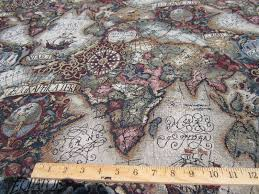Map Fabric Image Gallery Old World Map Fabric