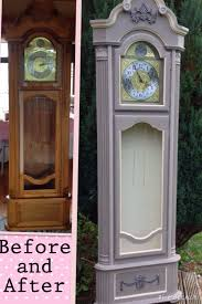 Emperor Grandfather Clock Annie Sloan Chalk Paint In French Linen And Old Ochre Updated