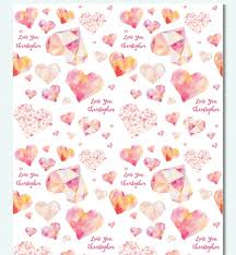 heart wrapping paper custom wrapping paper jk