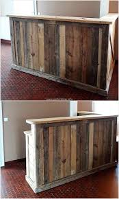 home bar decorations decor diy l shaped wood pallet bar for awesome home bar decoration