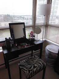 Lamp For Makeup Vanity Small Black Makeup Vanity Table Storage Set With Lighting And