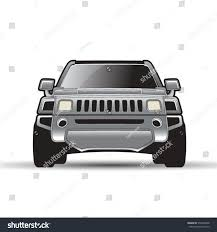 jeep front silhouette silver color modern car jeep front stock vector 572342698