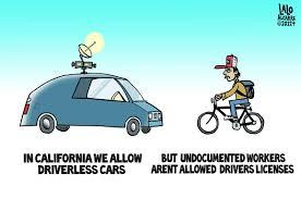 cartoon car driverless cars licenseless drivers cartoon huffpost