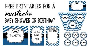mustache baby shower mustache party 10 free printables paper trail design