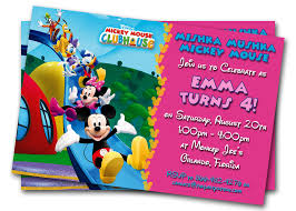 Mickey Mouse Invitation Cards Printable Minnie Mouse Birthday Invitations Printable Custom Kids