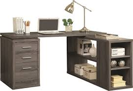L Shape Computer Desk With Hutch by Mercury Row Senga Down L Shape Computer Desk U0026 Reviews Wayfair