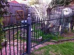 old pool fence purchased from ebay now used to keep the digging