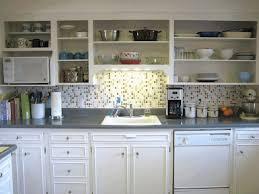 open shelves kitchen polished white ceramic floor polished black