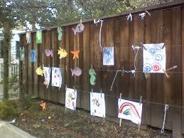 Backyard Fence Decorating Ideas Wood Fence Decorating Ideas Best Idea Garden