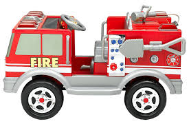 toddler motorized car amazon com kid trax red fire engine electric ride on toys u0026 games