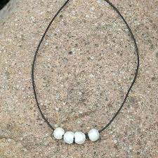choker necklace pearl images 4 pearl bar choker necklace jpg