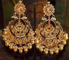chandbali earrings chand bali earrings an exle of exquisite architecture and