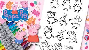 peppa pig george and friends coloring book page fun for kids