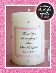 thank you wedding gifts bridesmaid candles and thank you candles for wedding gifts