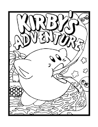 kirby colotring pages