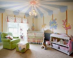 Nursery Ceiling Decor Carousel Canopy Created With Nothing More Than Two Distinct Colors