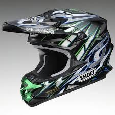 motocross helmets for sale new shoei vfx w k dub 3 off road motocross helmet green blue large