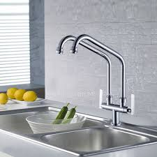 two kitchen faucet designed bridge kitchen faucet of two pipe cold only