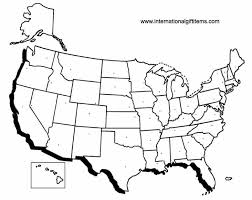 empty map of united states blank outline maps of the 50 states of the usa united states of