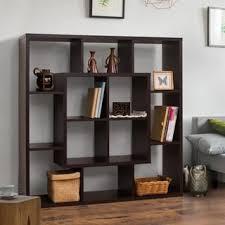 Open Bookshelf Room Divider Furniture Of America Verena Contoured Leveled Display Cabinet