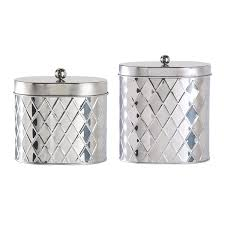 Stainless Steel Canister Sets Kitchen Brushed Stainless Steel Glass Tea Coffee Sugar Storage Jars