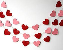 valentines decor valentines day heart garland pink heart garland
