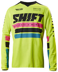shift motocross helmets shift recon phoenix jersey cycle gear