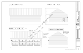 Workshop Garage Plans G442 30 X 50 X 12 8 12 Pitch Workshop Garage Plans Blueprints