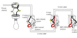 wiring diagram 4 way switch and 3 wire cable schematic diagram
