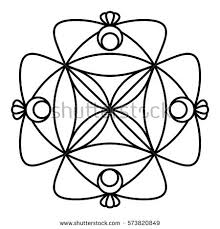 simple floral mandala pattern coloring book stock vector 573820849