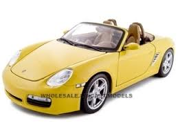 model porsche boxster boxster s yellow convertible 1 18 diecast model car maisto 31123