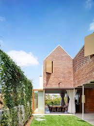 modern brick house christian street house brick walls and high gables for this