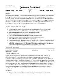Examples Of Nurse Resumes by Icu Nurse Resume Examples Haadyaooverbayresort Com