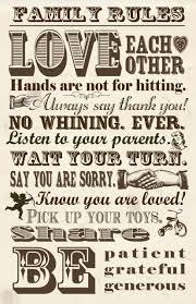 free grandchildren printables free family rules poster three