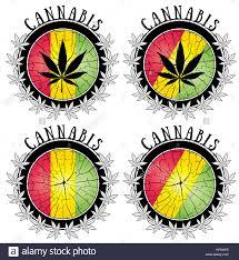 Colors Of Jamaican Flag Cannabis Marijuana Leaf Jamaican Flag Colors Stock Photo Royalty