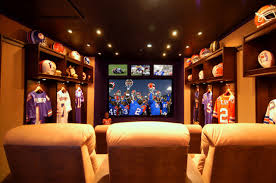 Basement Media Room For The Sports Fan Basement Media Room A Basement That Doesn